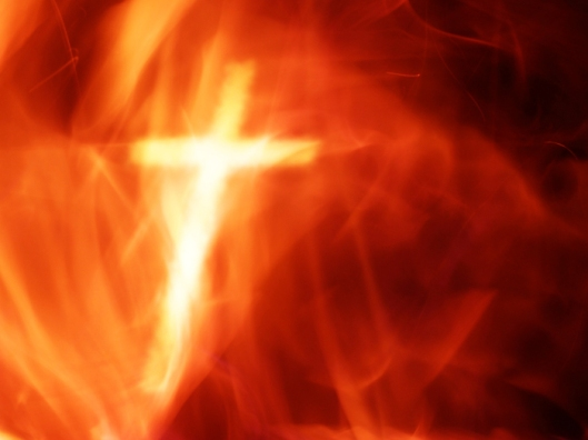 Cross and Fire  (Photo from http://cupandcross.com/)